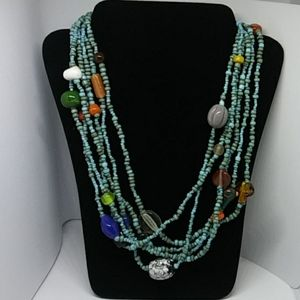 Turquoise and beads necklace